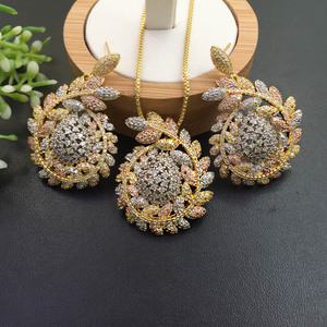 Image 1 - Lanyika Jewelry  Distinctive Fortunate Hopeful Of Wheat  Plated Necklace with Earrings Wedding Engagement Popular Best Gifts