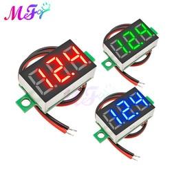 0.36inch DIY Mini Voltmeter Tester Digital Voltage Test Battery DC 4.5-30V 2 Wires Red Green Blue for Auto Car LED Display Gauge