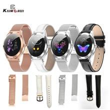 Reloj inteligente KW10 Original para mujer, correa de cuero y acero inoxidable para reloj inteligente KW20 KW10
