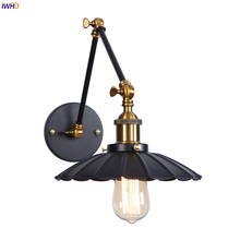 IWHD RH Loft Decor Retro LED Wall Light Living Room Stair Porch 2 Arms Industrial Antique Vintage Wall Sconce Luminaire Edison