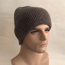 Повседневная новая зимняя шапка однотонные шерстяные теплые