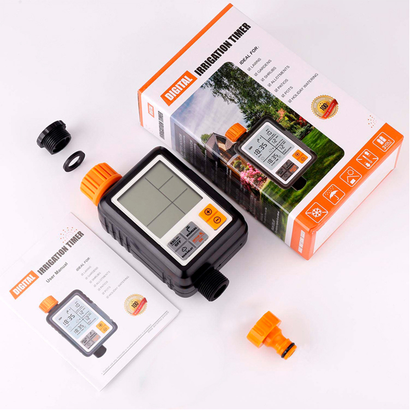 Garden-Irrigation-Controller Electronic-Watering-Timer Programmable Digital Waterproof title=