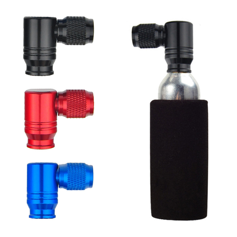 Bicycle Bike Aluminum Mini Air Pump Head CO2 Gas Tank Adapter Tyre Pump Portable Inflator Accessories For American/French Valve