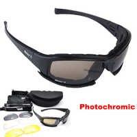 Gafas tácticas para hombres gafas militares polarizadas CS juego de guerra Airsoft gafas de ciclismo de pesca gafas fotocrómicas