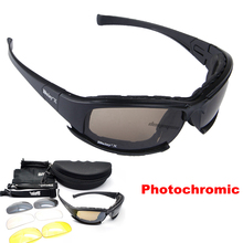 Mens Tactical Goggles Military Polarized Sunglasses CS War Game Airsoft Goggles