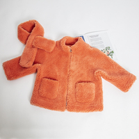 Faux leather girls jackets kids jacket big sister little sister 2019 winter clothes girl coat sheep fur baby jacket