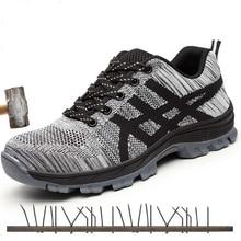 Boots Work-Shoes Black Steel-Toe Anti-Smashing Men Industriales Comfortable Men's