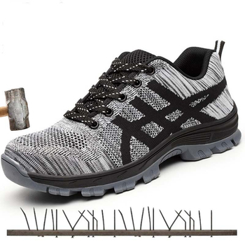 Safety Shoes Steel Toe Men Fashion Anti-smashing Men's Work Shoes Black Breathable Comfortable Sports Shoes Boots Industriales