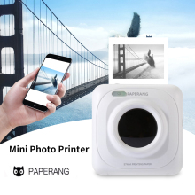 Портативный Bluetooth принтер мини Карманный фотопринтер Мобильный телефон фотографии Термопринтер для iOS Android Windows ручной 58 мм