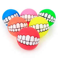 New Pet Toys Thicken Soft Plastic Teeth Sounding Toy Ball Squeak Bite-Resistant Dog Training Voice Ball for Puppies