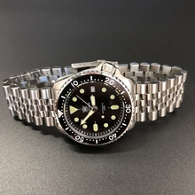 STEELDIVE 1996 Japan skx007 Small Abalone 316L Stainless Steel Dive Watch 200m M