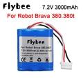Оригинальная Аккумуляторная Батарея iRobot Roomba Brava 380 380T Mint 5200c 7,2 в 3000 мАч, никель-металлогидридная аккумуляторная батарея 2500 мАч для Brava 380T