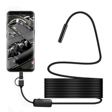 2/3.5/5/10M 8mm USB Endoscope Camera HD 1200P Snake Camera With 8 LED IP68 Waterproof Inspection Borescope Camera for Android PC цены