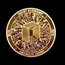 NEO Gold Silver Plated Bitcoin Coin Collectible Gift BTC Coin Art Collection Physical Gift  Old coins Bedge drop shipping casascius bit coin bitcoin bronze physical bitcoins coin collectible gift btc coin art collection physical