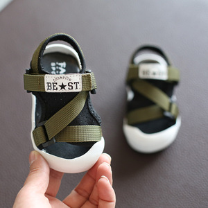 Image 4 - Été infantile enfant en bas âge sandales bébé filles garçons sandales décontractées fond souple confortable anti dérapant enfants sandales Anti collision