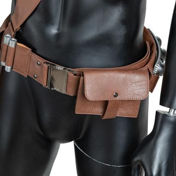 Coslive The Mandalorian PU Leather Belt  With Bullets Accessories Gun Holster Cosplay Costume Props 1:1 Scale Halloween Adults 6