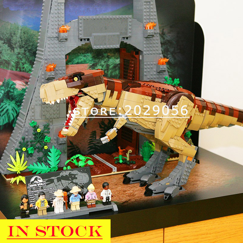 11338 In Stock Jurassic worlded Park movie rex Rampage 3508PCS Model Building lego bricks Toys Compatible with 75936