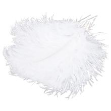 10 шт. натуральный красивый страусиные перья 12-14 дюймов(30-35 см) для свадебного украшения дома вечерние аксессуары для сцены whi