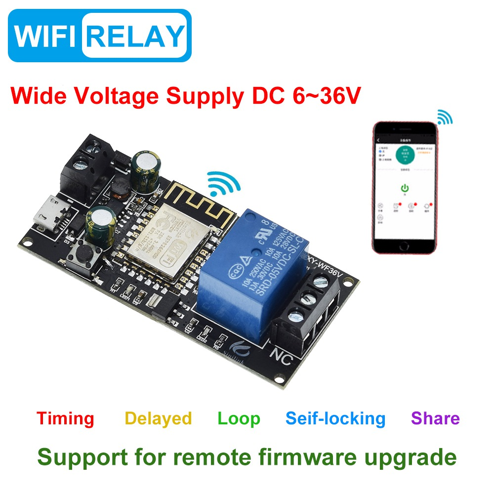 Завеса для Sinilink приложение WI-FI мобильный телефон дистанционный пульт триггерный релейный модуль DC6V ~ 36V умный дом с помощью приложения на те...