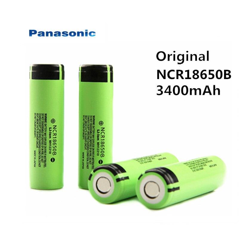 Free Shipping 100% New Panasonic Original NCR18650B 3.7v 3400 Mah 18650 Lithium Rechargeable Battery Flashlight Batteries