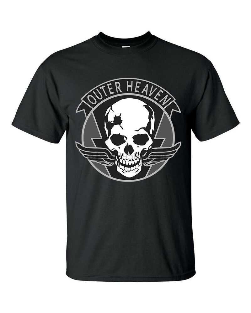 ด้านนอกสวรรค์ Metal Gear Solid SNAKE กองทัพทหารเกมเสื้อยืดสีดำ S-5xl