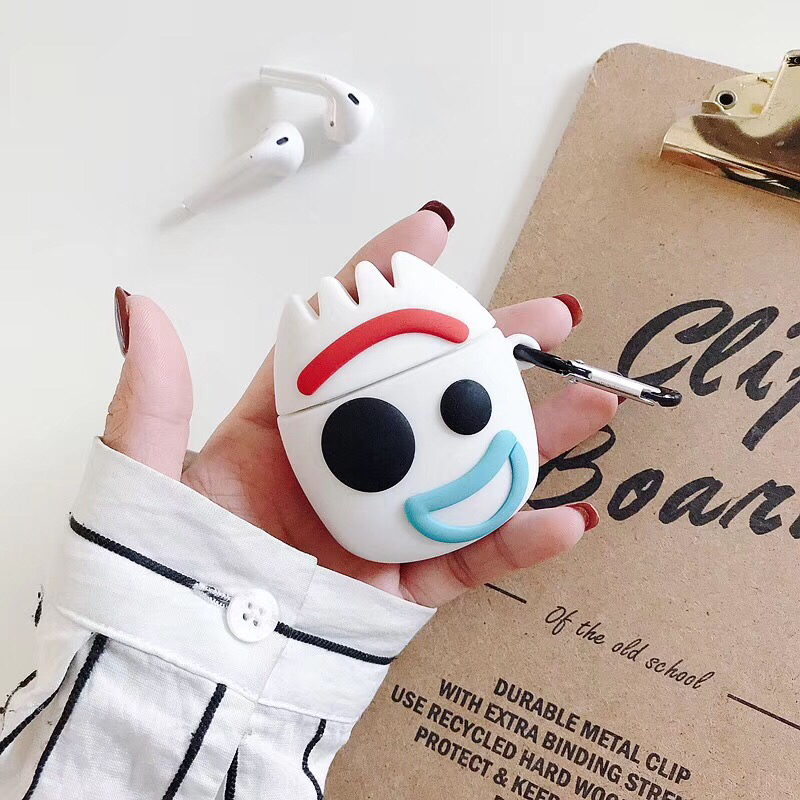 For airpods Pro case cartoon <font><b>Toy</b></font> <font><b>Story</b></font> 4 Forky Silicone soft For Apple new Airpods 1/2/3 Cover Wireless Bluetooth Earphone case image