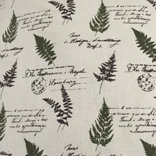 DIY Sewing Linen Cotton Fabric Leaf Printed Beige Canvas Material For Quilting Home Textile Tablecloth Cushioncover