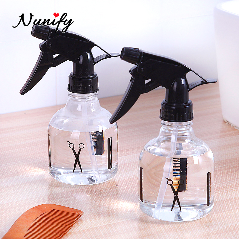 Black Transparent Salon Spray Bottles Barber Hair Cutting Atomizer Empty Water Sprayer Bottle Hairstyling Hairdressing Tools