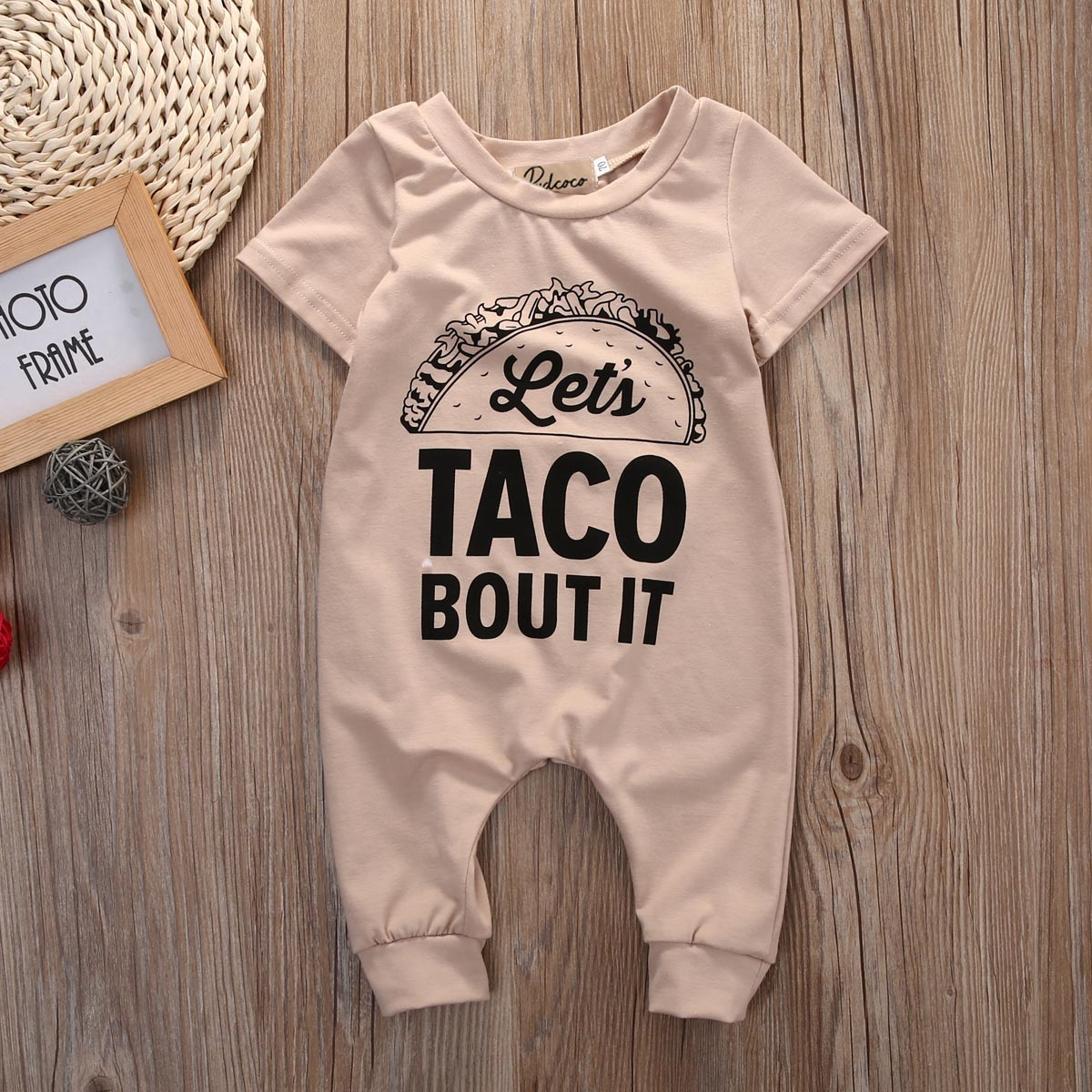 Let's Taco Bout It Short Sleeve Romper For Baby BOy
