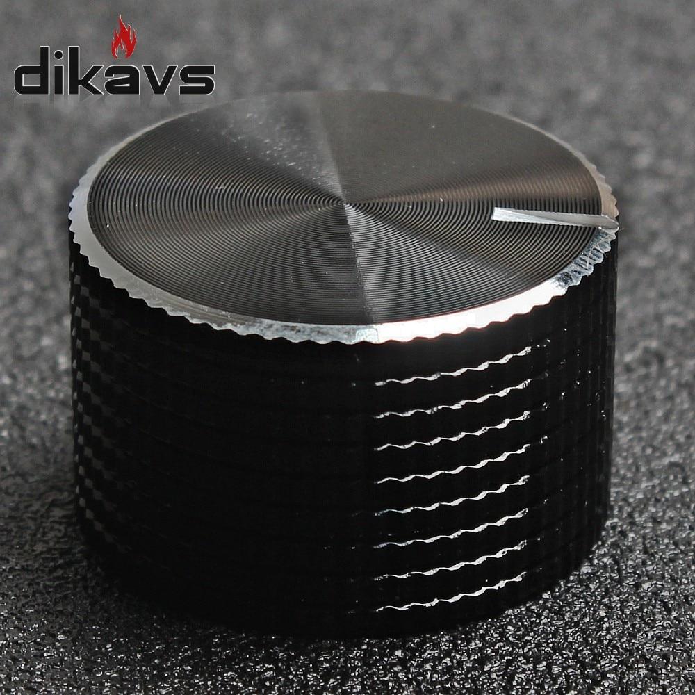 1pcs High Quality 100% Aluminum Volume Knob 25MM * 15MM Adjustment Potentiometer Knob For Hole 6MM