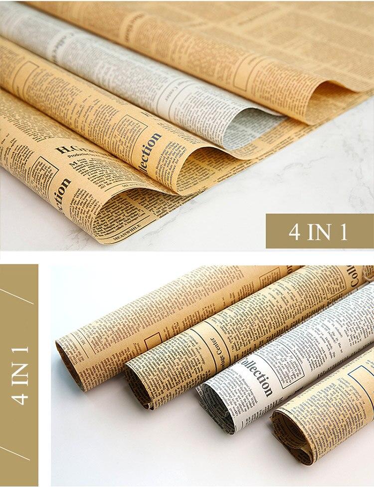 4 in 1 Vintage Stil Nostalgischen Englisch Zeitung Fotografie Hintergrund Pads Schießen Kulissen Schmuck Zubehör für Lebensmittel