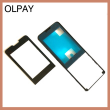 100% yeni orijinal garanti ön kapak çerçeve cam Philips için X1560 CTX1560 cep Xenium telefon cep telefonu