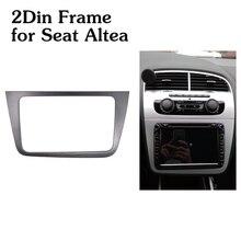 Rádio do carro fascia 2din quadro para assento altea lhd esquerda direita unidade kit adaptador estéreo duplo 2 din dvd player quadro