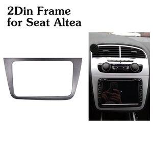Image 1 - Rádio do carro fascia 2din quadro para assento altea lhd esquerda direita unidade kit adaptador estéreo duplo 2 din dvd player quadro