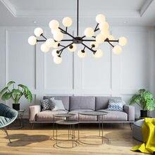 Nordic sala de estar luxo g4 led lustre foyer lustre ouro metal haste iluminação lâmpada pendurada interior luminárias