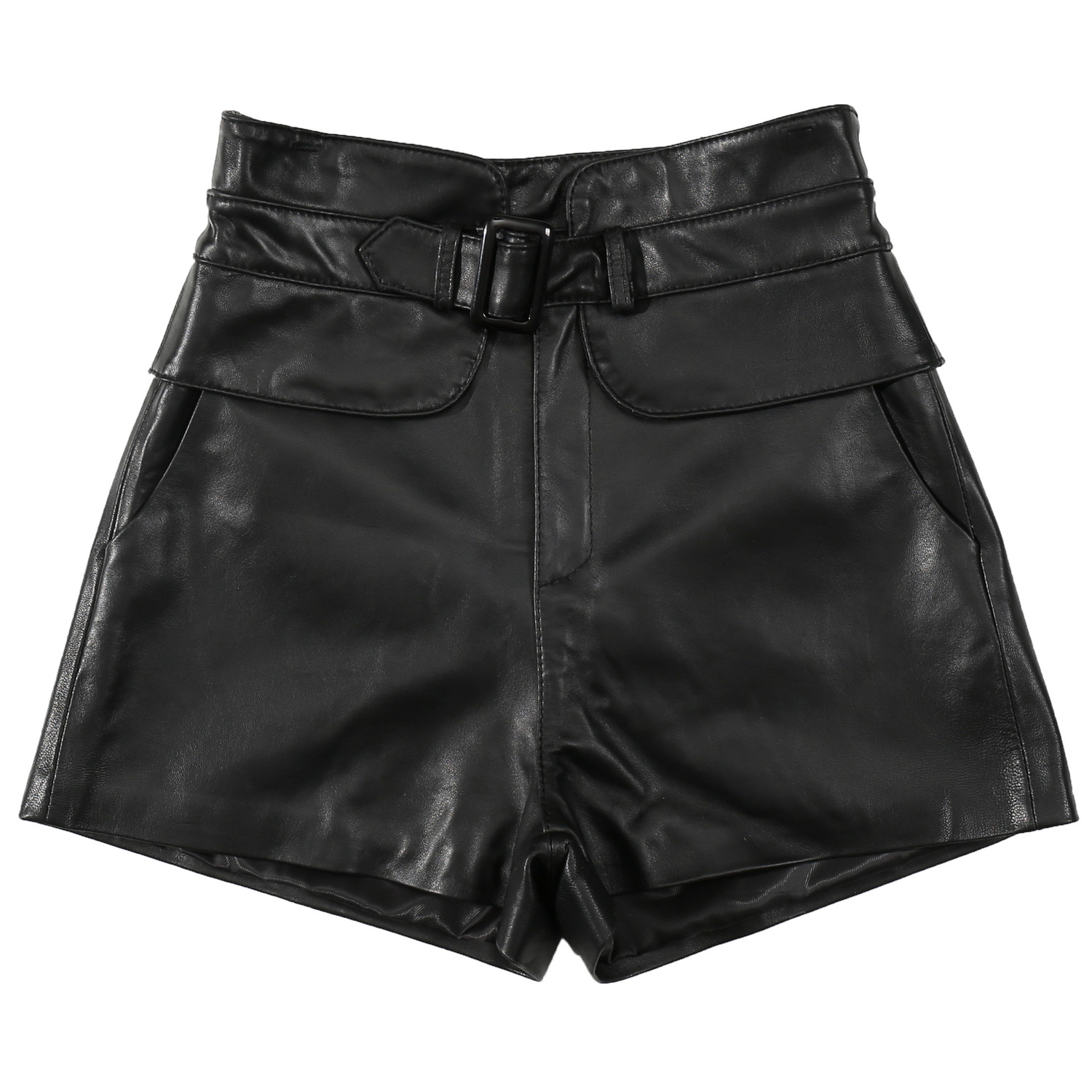 High Waisted Shorts For Women Genuine Leather Sexy 2020 Autumn Winter Casual Slim Fit Korean Style Female Mini Leather Shorts