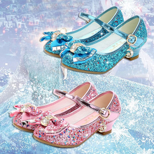 Chaussures princesse pour filles, sandales à talons hauts, chaussures de soirée, à strass pailleté, pour filles