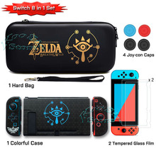 Nintendos Nintend Switch Protective Case Nitendo Switch Accessories Hand Bag Screen Protector Film Grips for NS Nintendo switch