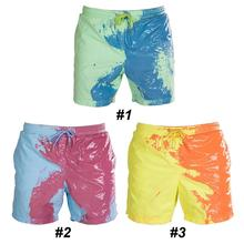 Cool Color Changing Men Beach Short Quick Dry High Temperature Discoloration Male Running Gym Summer Swimming Shorts