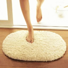 30x50cm Fluffy Round Rug Carpets for Living Room Faux Fur Floor Mat Long Plush Rugs for Bedroom Shaggy Area Rugs Modern Doormat