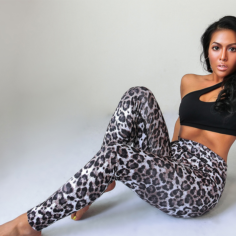 ALI shop ...  ... 33033736994 ... 5 ... Fashion Sexy Leopard Gym Fitness Leggings Women Sports High Waist Workout Leggins Push up Printed Pants Stretchy Booty Jogging ...
