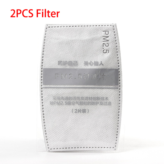 Cotton PM2.5 Anti Haze Breath valve anti-dust mouth mask Activated carbon filter Face Mask Reusable Proof Flu Face Masks Unisex 5