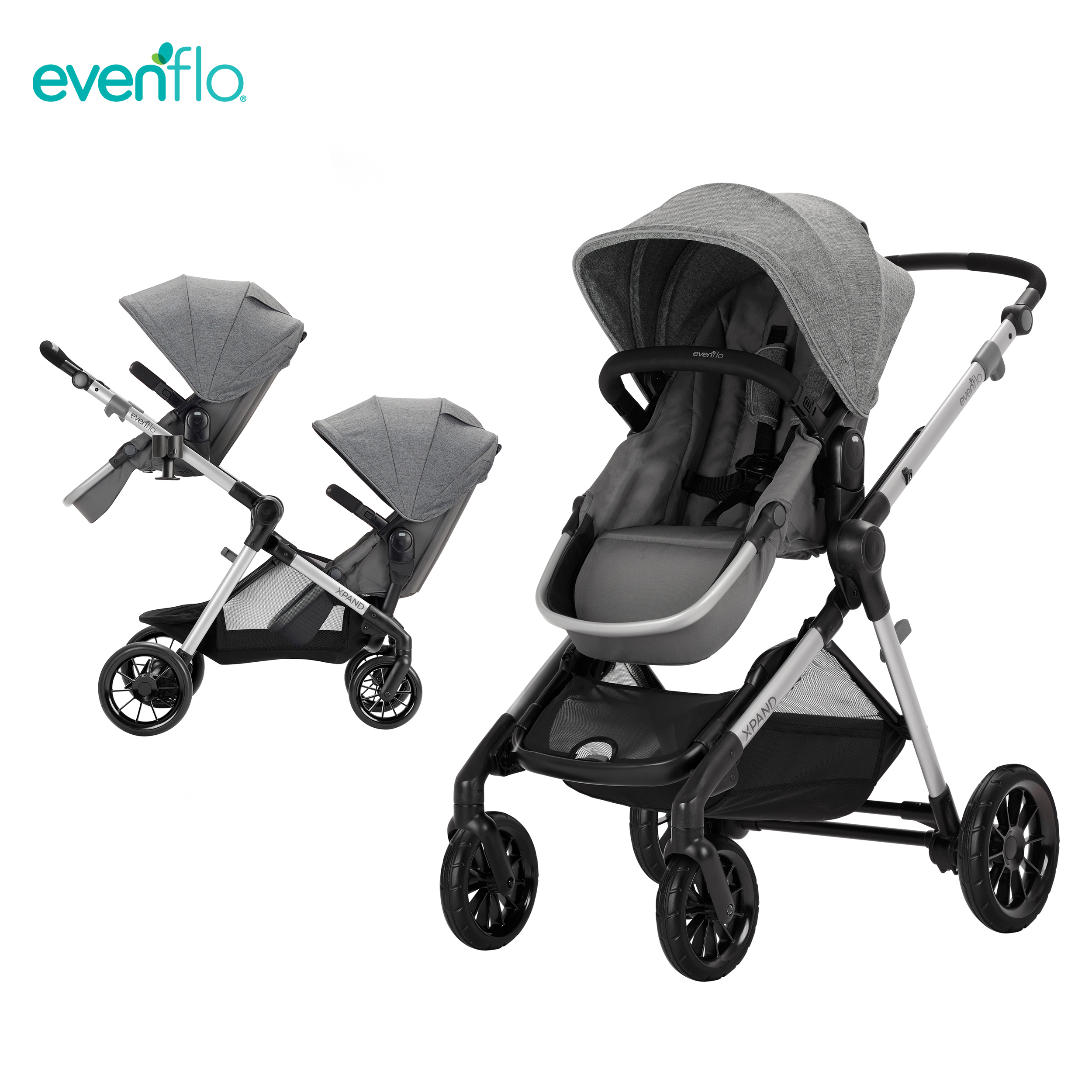 Evenflo Pivot Xpand Modular Travel System With Double Seats Baby Stroller image