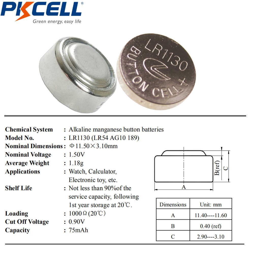 10 sztuk AG10 alkaliczne przycisk bateria moneta 1.5V równa 189 LR54 LR1130 L1131 389 390 dla kule jaja zegarki kalkulatory