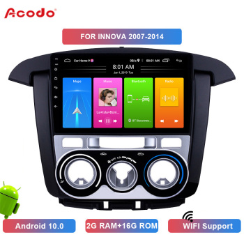 ACODO 2+16G Android 10.0 Car Radio Multimedia Player For Toyota INNOVA 2007-2014 Navigation GPS 2 din image