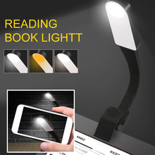 Reading Lamp Book Rechargeable E-book Kindle USB Led Light Light Lamp Clip For Travel Bedroom Book Reader 3 Lights Color super 18 led white light reading book kindle orchestral sheet music stand lamp gt021