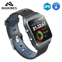 [IN STOCK]Makibes BR3 GPS 17 kinds sports Smart Watch IP68 Waterproof Wearable Devices Bluetooth Strava Fitness Tracker Bracelet