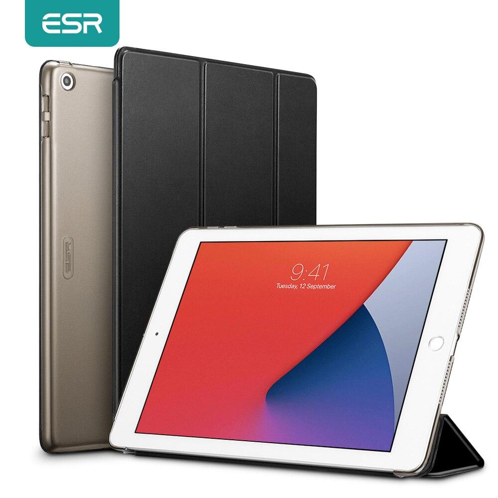 ESR para iPad 8th 2020 para iPad 8 10,2 pulgadas TPU borde suave Funda inteligente para iPad 8th 7th Gen 2020 2019 tableta cubierta, Funda de nuevo