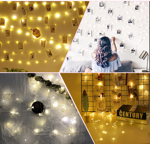 Image 5 - 2M / 5M / 10M USB LED new exotic lights outdoor garland photo clip decorative fairy tale / string light chain battery Christmas