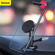 Магнитный автомобильный держатель Baseus с зажимом для кабеля, автомобильный держатель для телефона с поворотом на 360 градусов, держатель на вентиляционное отверстие автомобиля мобильный телефон